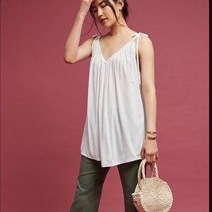 Anthropologie Tie Shoulder Tank